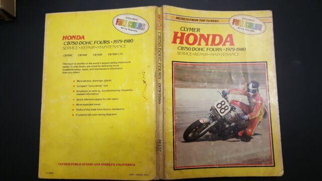 Clymer U0026 39 S Honda Cb750 Dohc Repair Manual  1979