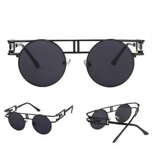 a0efb477b5 Image is loading Vintage-Sunglasses-Steampunk-Gothic-Retro-Round-Metal-Frame -