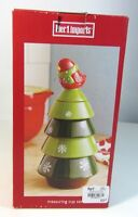 Pier 1 Imports Stackable Ceramic Measuring Cup Set Holiday Tree