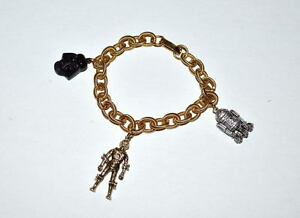 Image Is Loading Star Wars Metal Charm Bracelet W 3 Charms