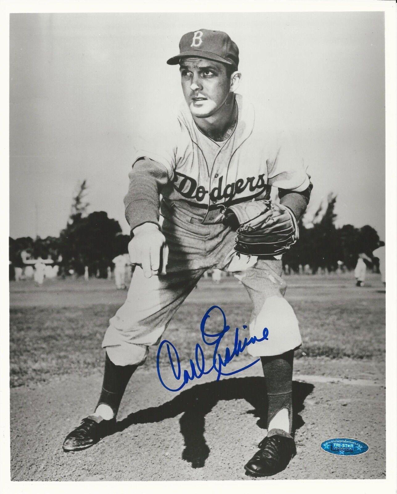 Carl Erskine Brooklyn Dodgers Signed 8X10 Photo Tristar # 7089354