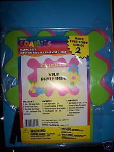 NIP-Darice-Foamies-Flower-Picture-Photo-Frame-Kits-Kid-039-s-Craft-DIY-FUN-Girly