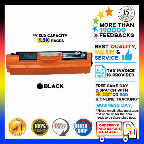 1x NoN-OEM BLACK Only Toner CF 350A CF350A for HP Pro MFP M153 M176n M177fw
