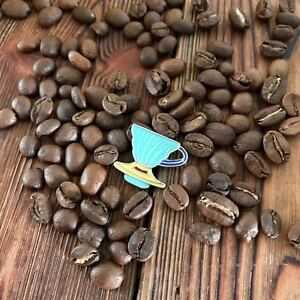 Blue Yellow Barista Coffee Geek V60 Dripper Pour Over Cone Pin Brooch Badge