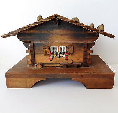Vintage music box German wood cottage chalet Strauss Vienna Waltz Liechtenstein