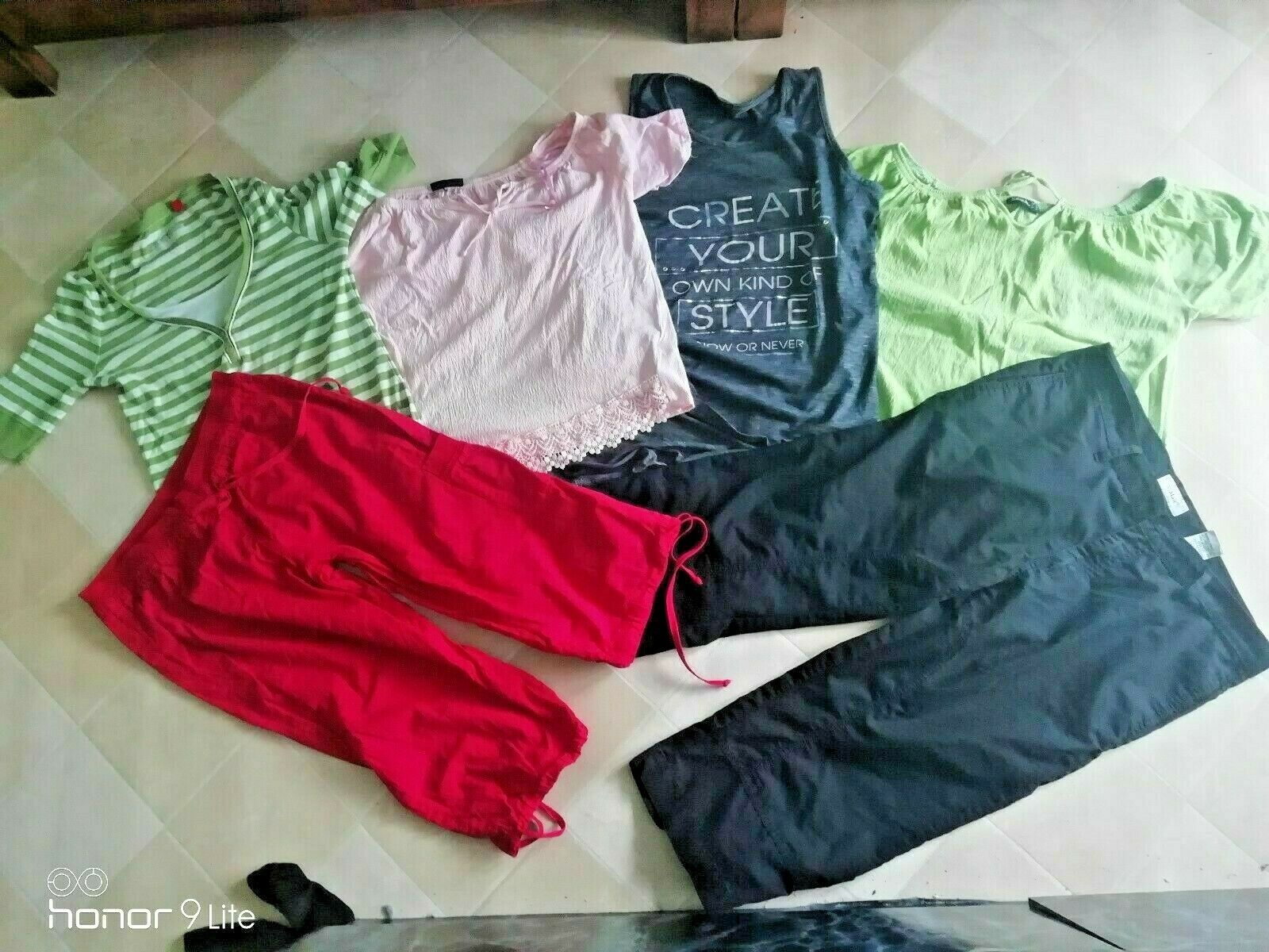 10teil Set Gr 40/42 Neue graue Jeans +Bermuda + Shirts