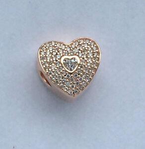 12e87942bdb5e Details about GENUINE PANDORA Rose Sweetheart Charm 781555CZ FREE DELIVERY
