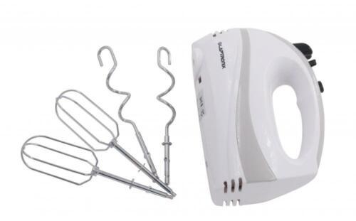 Laptronix Hand Food Mixer Electric Whisk batteurs pâte Crochets 5 Vitesse Blanc
