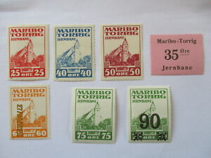 Denmark-Railway-Maribo-Torrig-7-Mint-Never-Hinged-Brands-64502