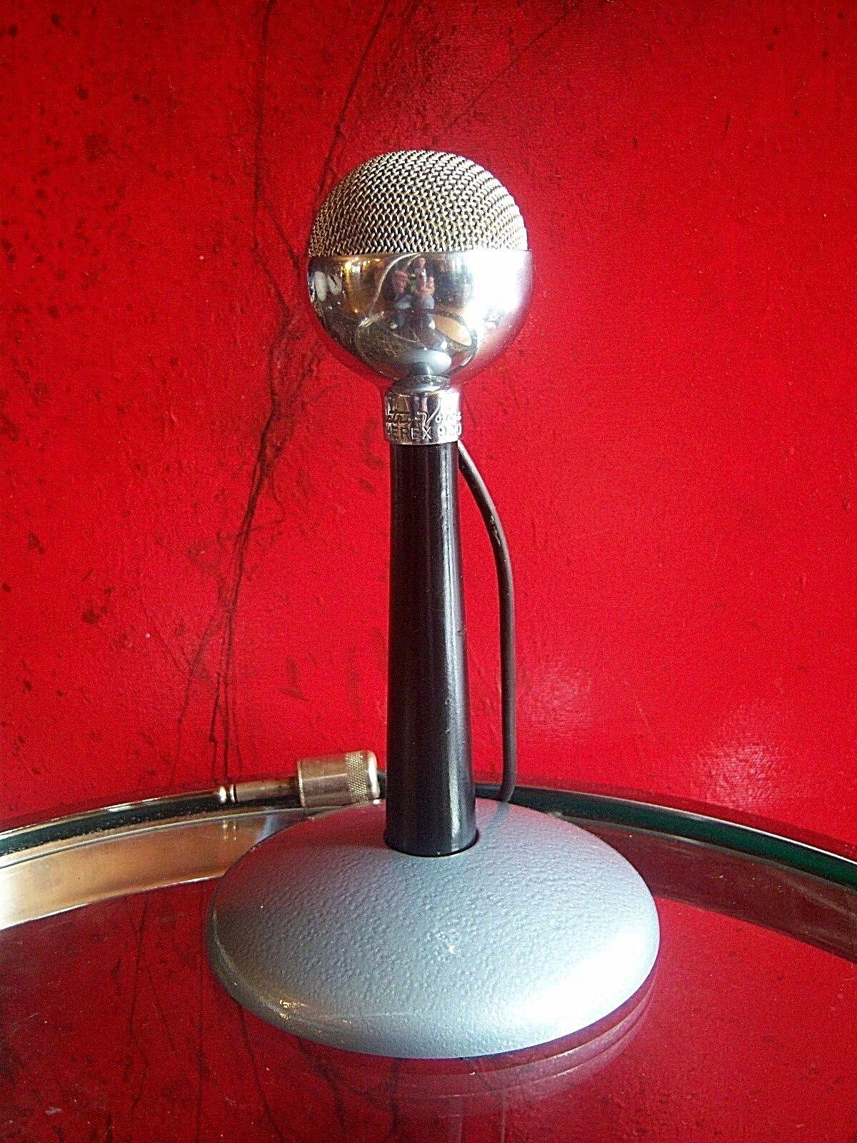 Vintage 594ms Electro Voz 920 Cristal Arpa Micrófono Antiguo con Astatic Soporte