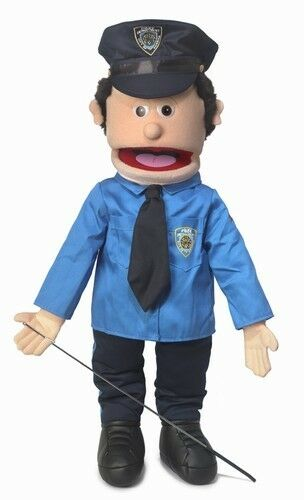 Silly Puppets Policeman (Caucasian) 25 inch Full Body Puppet