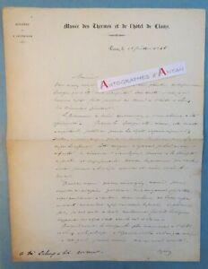 L-A-S-1846-Edmond-du-SOMMERARD-Musee-thermes-amp-Hotel-de-CLUNY-Lettre-autographe