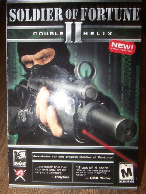 Soldier Of Fortune 2 II Double Helix Pc 2002 Big Box RARE w/ 2 Discs-Manual-Key