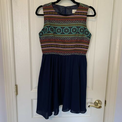 Anthropologie Size 4P DRESS Winona USA  SWING SKIR