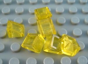1x1 Clear Yellow Traslucent Extra Small Slope Bricks ~ New Lego Parts ~ 12