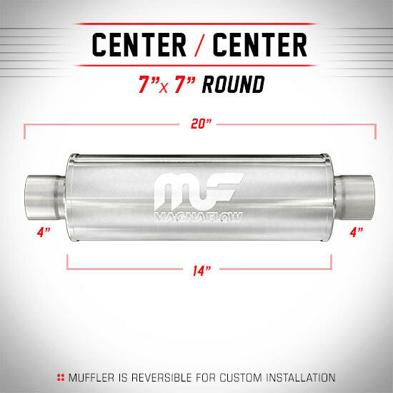 "Magnaflow 12770 -  7"" Round Diesel Muffler -  4"" In/Out - 14"" Body - 20"" Long"