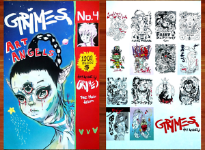GRIMES-Art-Angels-Ltd-Ed-2-RARE-New-Posters-Lot-FREE-3rd-Pop-Indie-Dance-Poster
