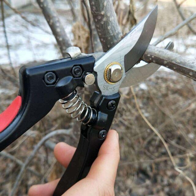 Stainless Steel Hand Pruner Secateurs Cutter Scissors Pruning Shear Plants Tool
