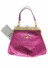 VIVIENNE WESTWOOD WOMENS ORB FEVER SMALL FUCHSIA EVENING BAG *NEW*