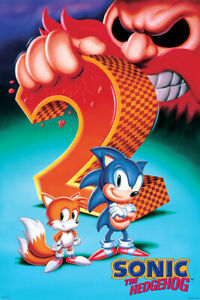 Sonic The Hedgehog 2 24x36 Poster Sega Video Games Jogos Classic Caudas Robotnic Ebay