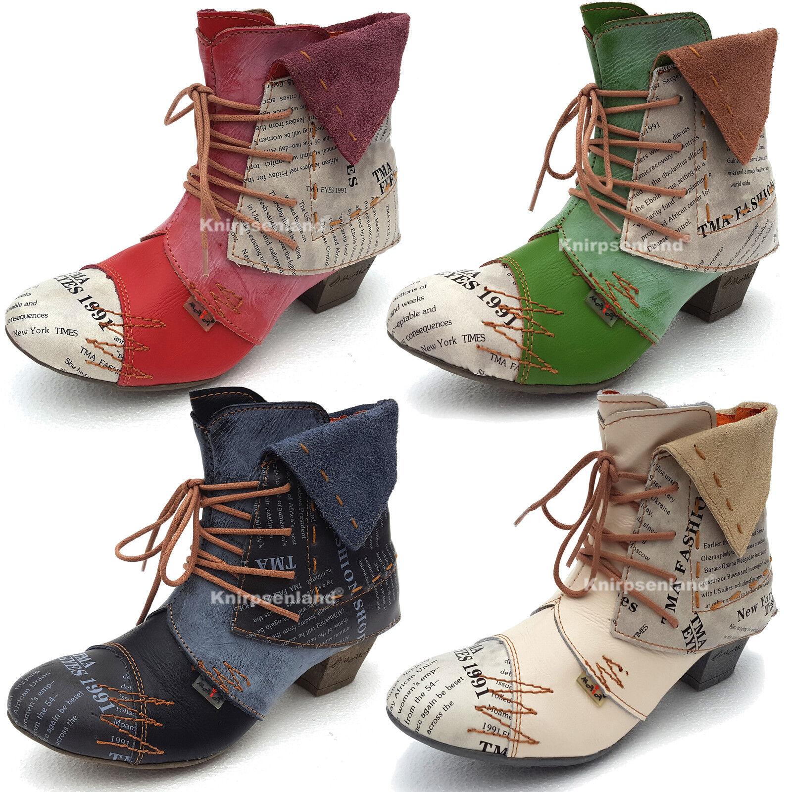 TMB Damen Stiefelette Schuhe echt Leder Stiefel Stiefeletten Damenstiefel 6106N
