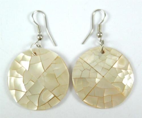 Handmade Natural Mother of Pearl Shell Dangle Boucles d/'oreilles pendantes Femme Bijoux BA354