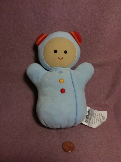 "7"" Kaplan Early Learning SOFT DOLL RATTLE BLUE plush ..."