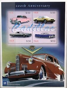 Motive Guyana 2003 Cadillac Automobile Autos Cars Oldtimer 7551-54 Block 756 Mnh Briefmarken