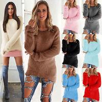 Damen Sweatshirt Pullover Cardigan Velvet Top Bluse Longshirt Jumper Longpulli