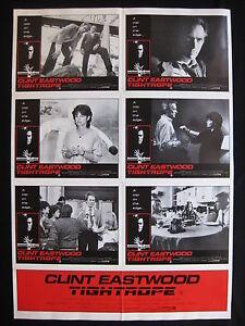 TIGHTROPE-1984-Orig-Australian-photosheet-movie-poster-Clint-Eastwood-police