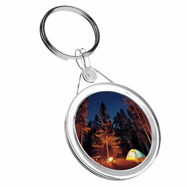 1 Fuoco Campeggio Selvaggio X Tenda Foresta-portachiavi Ir02 Mamma Papa 'regalo Di Compleanno #16475
