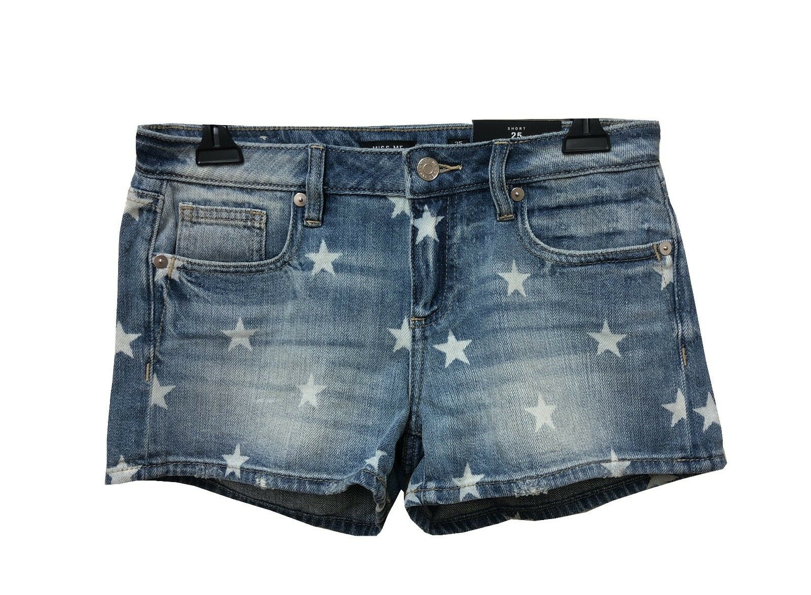 NEW MISS ME Women 4th of July Americana Seeing Stars Vintage Denim shorts Jeans