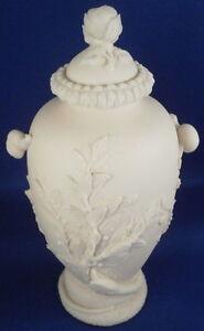 Ancien-Inconnue-Parisien-Porcelaine-Relief-Scene-Vase-Pot-The-Caddy-Porzellan