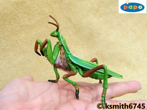 Nuevo * Papo Praying Mantis plástico sólido Juguete Animal Salvaje Insecto Bug Predator