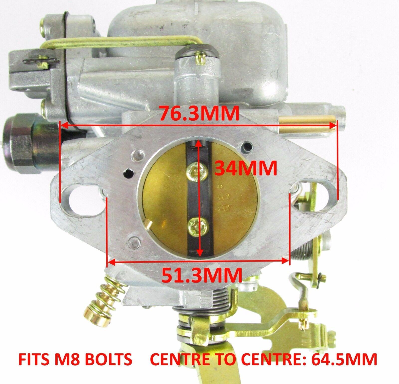 Genuine Weber 34 ICH CARBURATORE FORD 1600 X Flow Capri Cortina Kitcar 15290.029