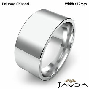 Image Is Loading Comfort Fit Flat Pipe Cut High Polish Ring