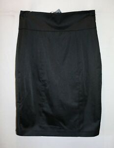 OJAY-Brand-Black-Satin-Fish-Tail-Skirt-Size-14-BNWT-LIN