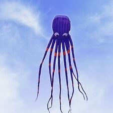 "3D 8m/315"" Single Line Stunt Parafoil Octopus POWER Sport Kite Outdoor Fun Toy"