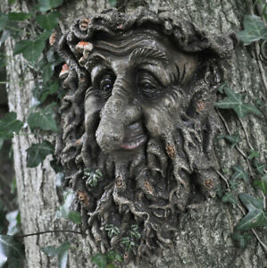 Man-Of-Forest-GreenMan-Tree-Face-Leaf-Plaque-Wall-Garden-Ornament-New