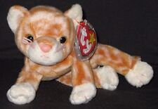 Ty Amber Orange Tabby Cat Striped Tiger Beanie Baby 1999 Retired 3 ... d7437afff517