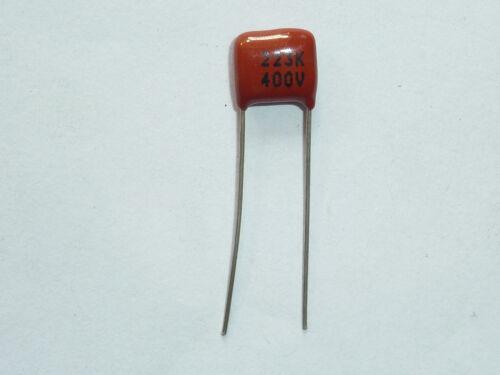 10PCS CL21 223K 400V 0.022UF 22NF P8 Metallized Film Capacitor