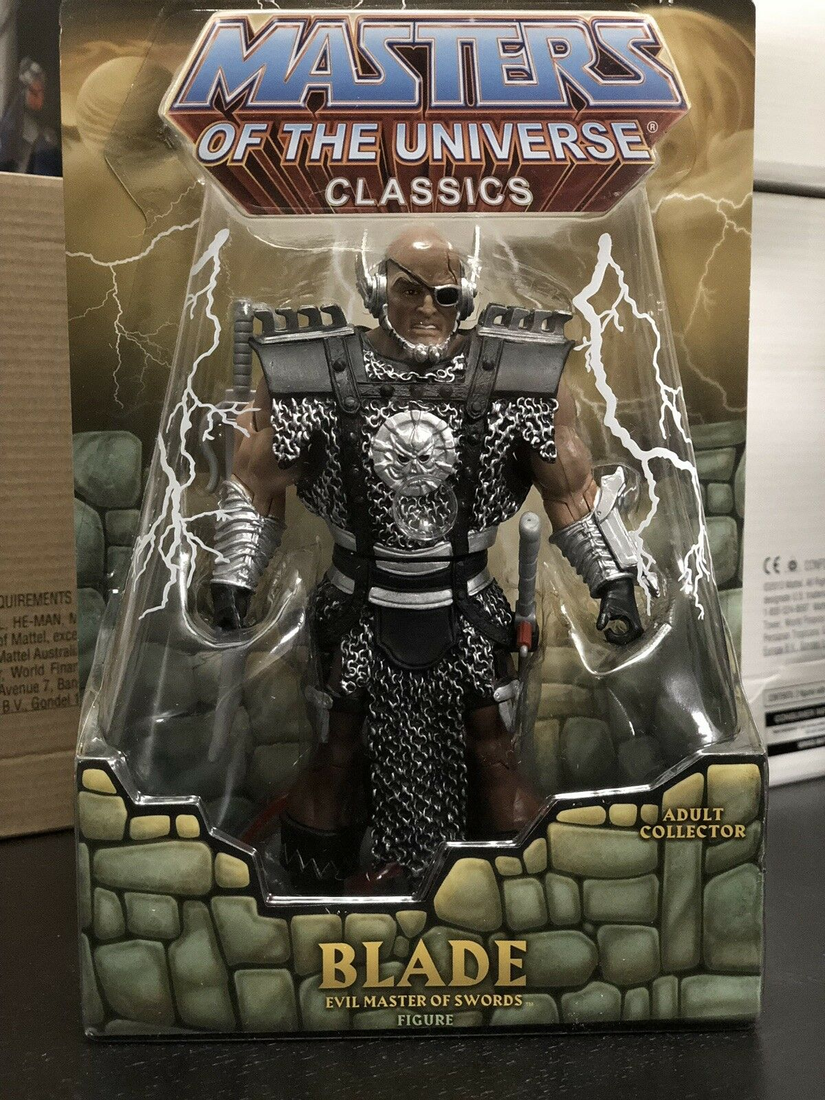 Htf SOLD OUT Motuc Matty BLADE With Mailer Masters Of The Universe NIB