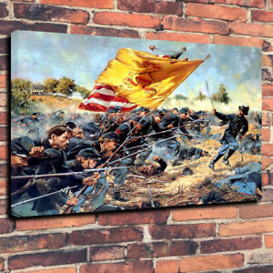 Forlorn-Hope-Charge-of-the-1st-Maine-Civil-War-Printed-Canvas-Picture-30-034-x20-034
