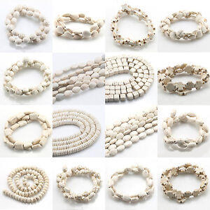 Wholesale-White-Turquoise-Gemstone-Spacer-Loose-Beads-Charm-Findings-15-039-039-Strand