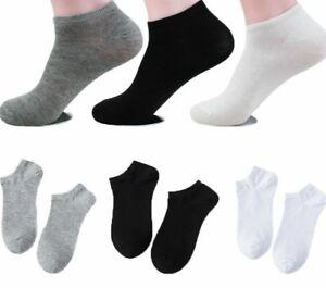 Trainer Socks Mens Womens Trainer Liner Ankle Socks Cotton Socks 3 6 12 Pair