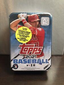 🧢🥎🥎2021 Topps Series 1 MLB Baseball 🥎🥎🧢RANDOM Tin Trading Cards SEALED NEW