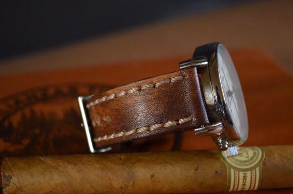 2019 Neuer Stil Uhrenarmband 22 20 18mm Handmade Spain Leder Ma Strap Vintage Band Oil Brown Iii Seien Sie Im Design Neu
