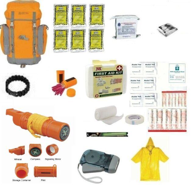 Backpack Disaster Emergency Survival Kit Bug Out Bag Camping Hiking Food  Water