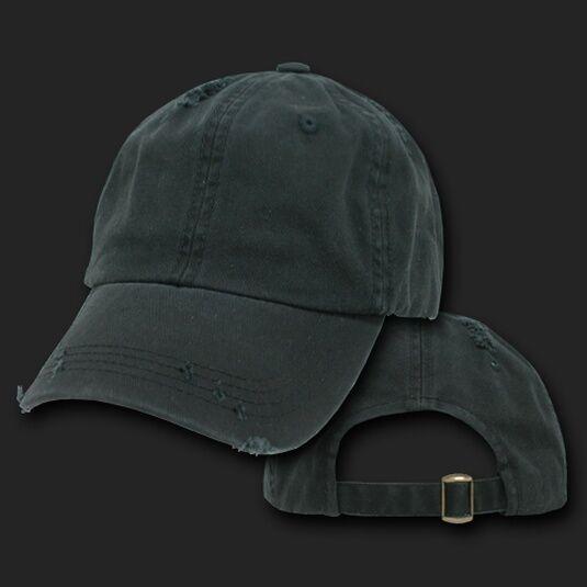 584a691d88b6a Black Vintage Distressed Retro Polo Low Profile Baseball Cap Dad Hat Hats  Caps for sale online