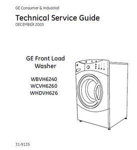ge front load washing machine manual